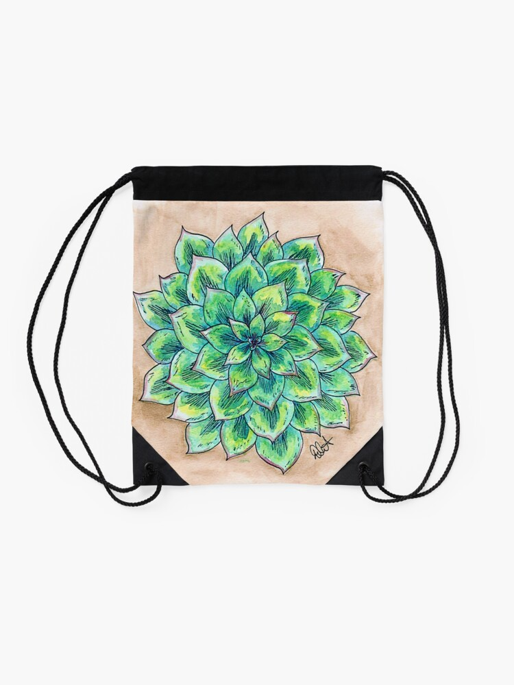 Alternate view of The Single Succulent Drawstring Bag