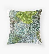 Succulent Obsession Throw Pillow