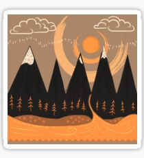 Sunny Mountain Pass Sticker