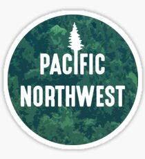 Pacific Northwest | Forest Circle Sticker