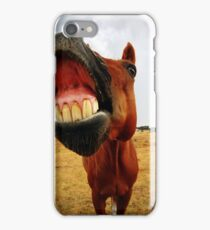 Red the smiling horse iPhone Case/Skin