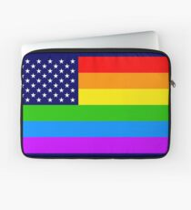 Gay USA Rainbow Flag - American LGBT Stars and Stripes Laptoptasche