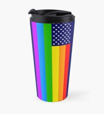 Gay USA Rainbow Flag - American LGBT Stars and Stripes Thermobecher