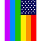 Gay USA Rainbow Flag - American LGBT Stars and Stripes von schildwaechter