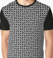 White and Black Graphic T-Shirt