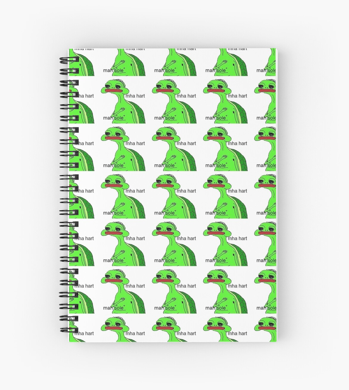 mha hart mah sole spiral notebooks by jennydelrey redbubble