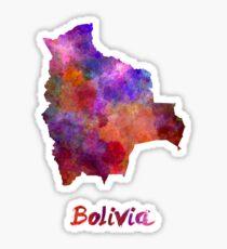 Pegatina Bolivia en acuarela