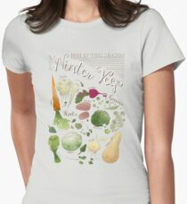 Winter Vegetables Women's Fitted T-Shirt