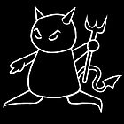 The Little Devil (White on Black) by Nik Usher