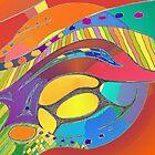 Bold Organic Abstract Art  by Julia Woodman
