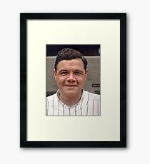 Colorization - Babe Ruth Framed Print
