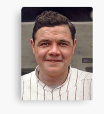 Colorization - Babe Ruth Canvas Print