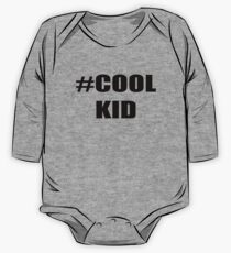 Hashtag Cool Kid Kids T-shirts One Piece - Long Sleeve