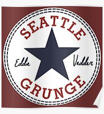 Seattle Grunge All Star Poster
