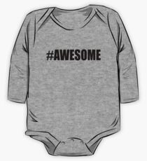 Hashtag Awesome T-shirts One Piece - Long Sleeve