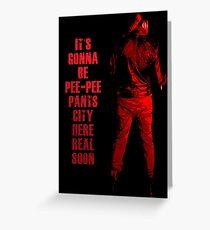 Next stop: Pee-Pee Pants City Greeting Card
