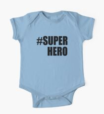 Hashtag Super Hero T-shirts One Piece - Short Sleeve