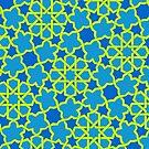 Vivid Geometry: Pineapple Blue by flashman