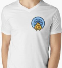 WE COME IN PEACE FOR PIZZA Men's V-Neck T-Shirt