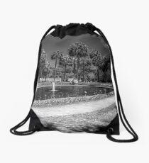 The Pond in B&W Drawstring Bag