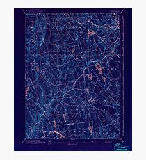 USGS TOPO Map Connecticut CT Gilead 331031 1892 62500 Inverted Photographic Print