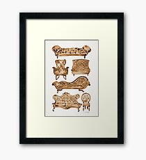Victorian Lounge – Sepia Palette Framed Print
