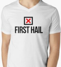 NUH FIRST HAIL  Men's V-Neck T-Shirt