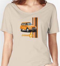 T-shirt Car Art - Orange Citroen Dyane Women's Relaxed Fit T-Shirt