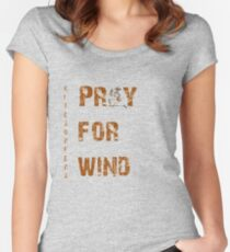 Kitesurfers Pray for Wind Women's Fitted Scoop T-Shirt