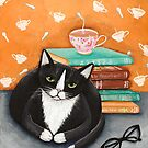 Tea, Books, and Cats by Ryan Conners