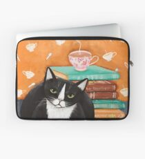 Tea, Books, and Cats Laptop Sleeve