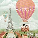 Hot Air Balloon Ride Cats by Ryan Conners