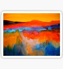 Landscape Abstract...The Niagara Escarpment Sticker