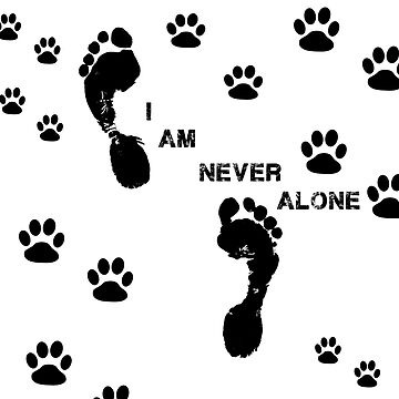never alone footprints  by chumi