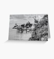 Eastern Road Lighthouse in Nassau, The Bahamas Greeting Card