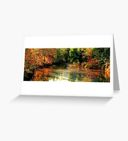 Marsh Creek, Aflame Greeting Card