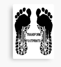 Transformers Footprints  Canvas Print