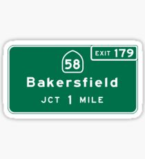 Bakersfield, CA Road Sign, USA Sticker