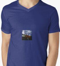 Hobos on the Railroad V-Neck T-Shirt