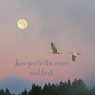 Liebe dich zum Mond und zurück von Peggy Collins