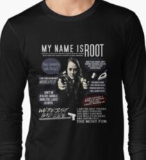 Root - Person of interest - Amy Acker Long Sleeve T-Shirt