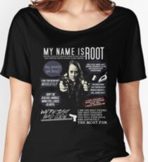 Root - Person of interest - Amy Acker Women's Relaxed Fit T-Shirt