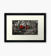 Montreal West side abadoned truck  Framed Print