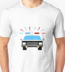 Black and White Police Car T-Shirt