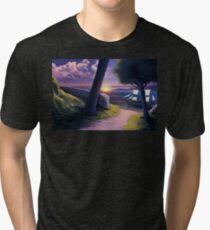 Path to Sunset Sea Tri-blend T-Shirt