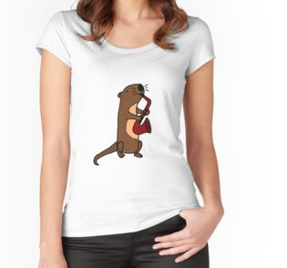 Quot Hilarious Cool Otter Playing Saxophone Quot By Naturesfancy