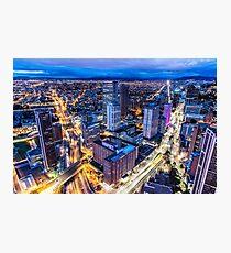 Bogota at Night Photographic Print