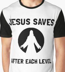 Jesus Saves Level Graphic T-Shirt