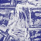 Blue And White Textured Abstract by Printpix