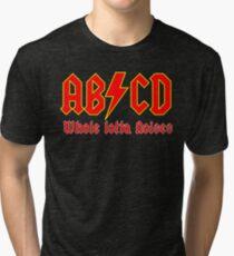 ABC a heavy metal parody funny Tri-blend T-Shirt